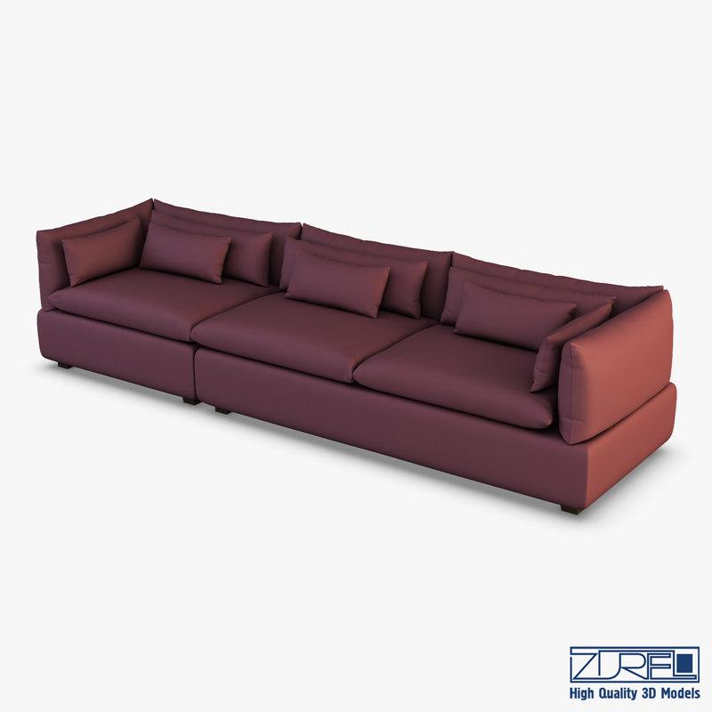 3D grase sofa model
