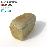 3D model bread photogrammetry arnold