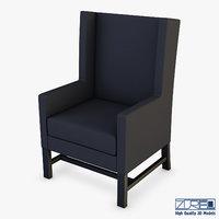 black armchair 3D model