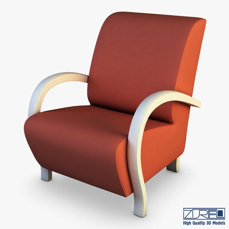 3D orly armchair
