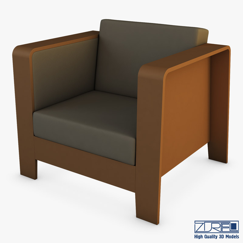 3D model qo2 chair erik jorgensen