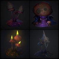 mushroom fantasy 3D model