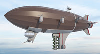 Military Zeppelin - 3D Air Ship Blimp