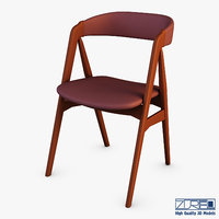 danish teak classics chair 3D model