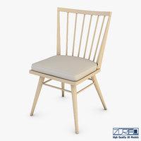 3D model midcentury modern chair ensemble