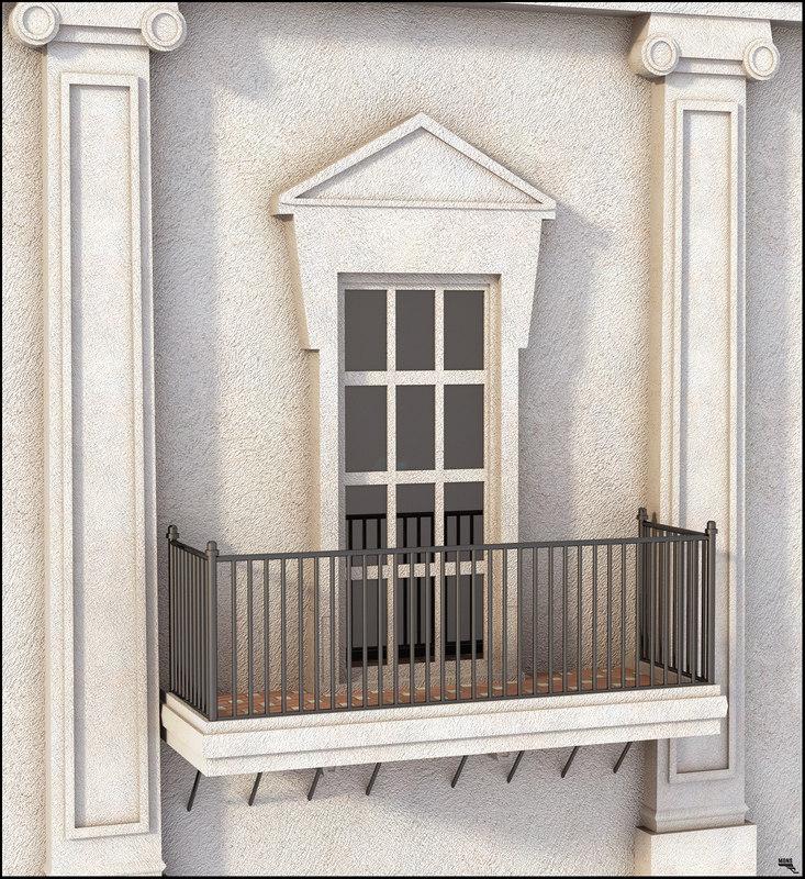 3D window terrace classic