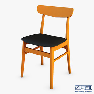 3D danish modern dining chairs