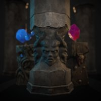 crystals demonic idol 3D model