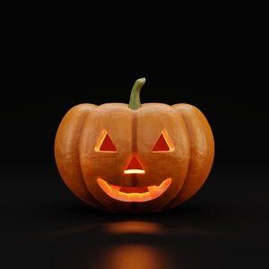 jack-o-lantern halloween pumpkin model