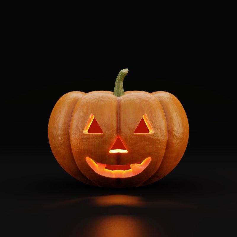 jack-o-lantern halloween pumpkin model