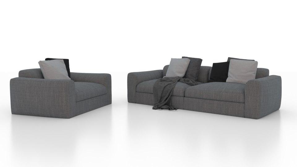 dune sofa 3D model