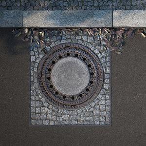3D model manhole cover