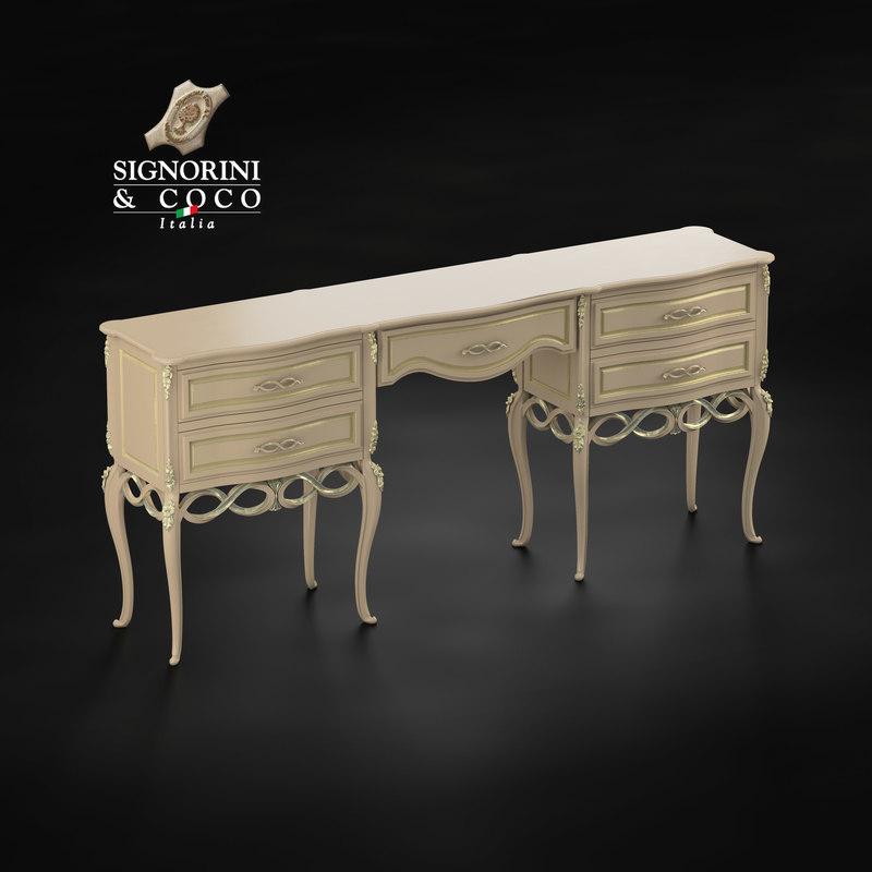 signorini coco bedside table 3D model