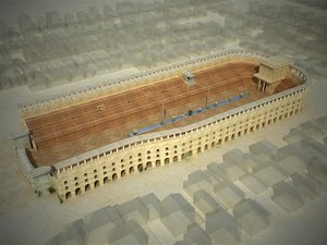 circus maximus arena hippodrome 3D model