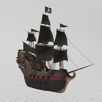 3D pirate ship model