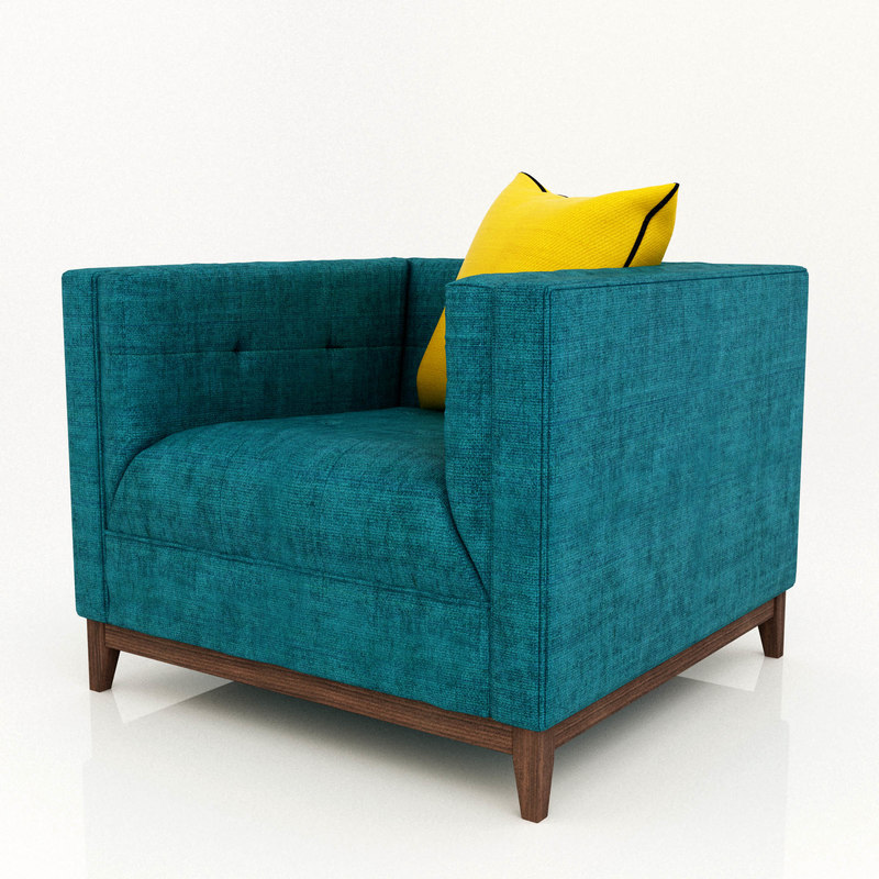 gus chair wood 3D model
