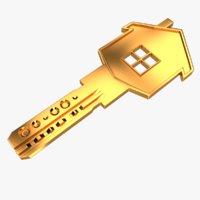 realistic key house 3D