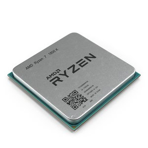 3D model cpu ryzen