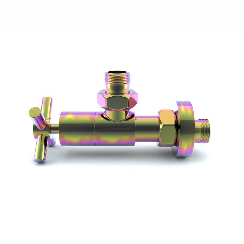 3D faucet valve model