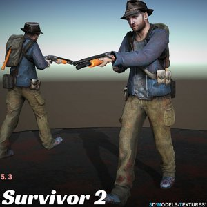 survivor 3D model