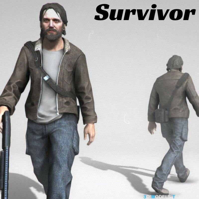 survivor character 3D