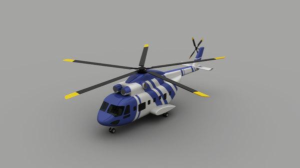 3D coastal guard helicopter model