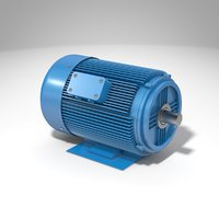 typical electric motor 3D model