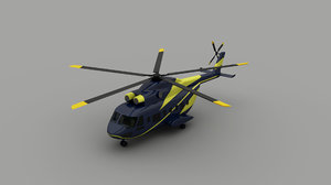 3D model vip helicopter
