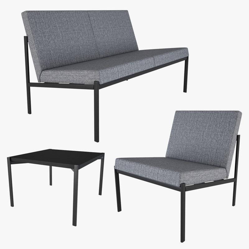 armchair chair coffee 3D model