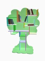 3D shelf books interior