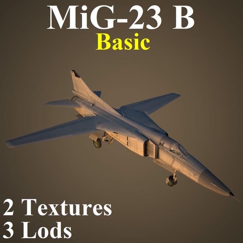 mikoyan basic fighter 3D model