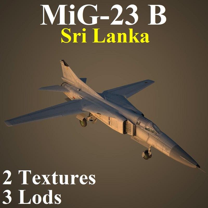 3D mikoyan shr fighter model