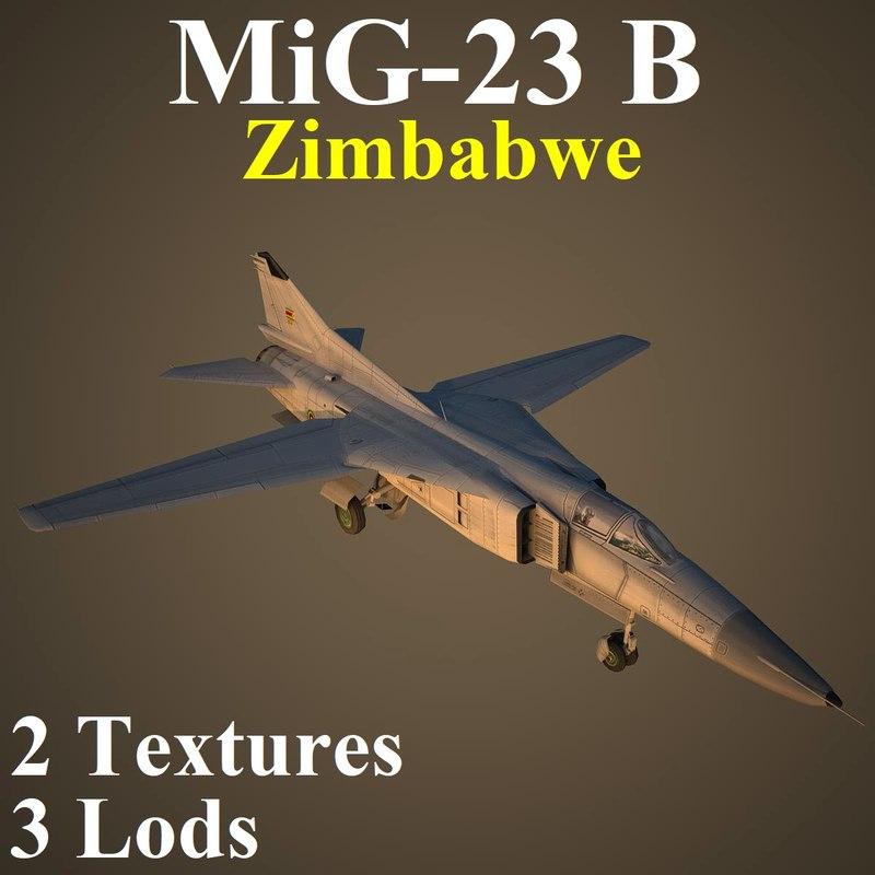 mikoyan zim fighter 3D model