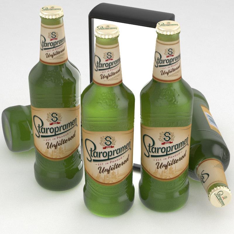 beer unfiltered staropramen model