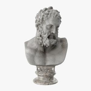 3D bust hercules model
