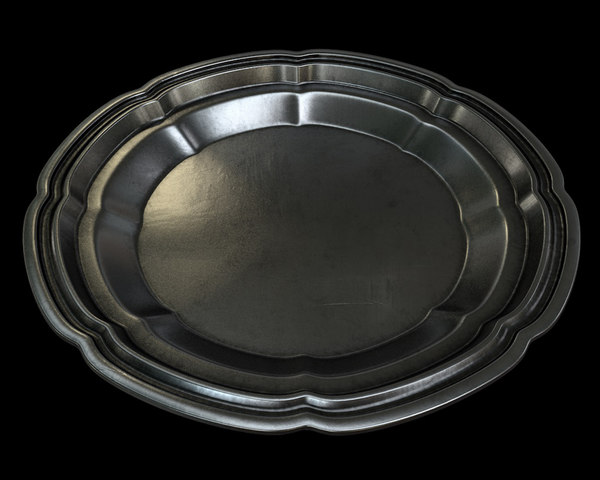 dish silver 3D model