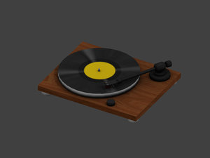 3D model record player