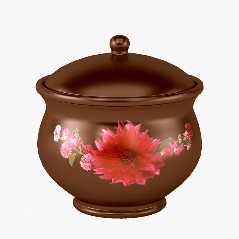 pot ceramics patterned 3D