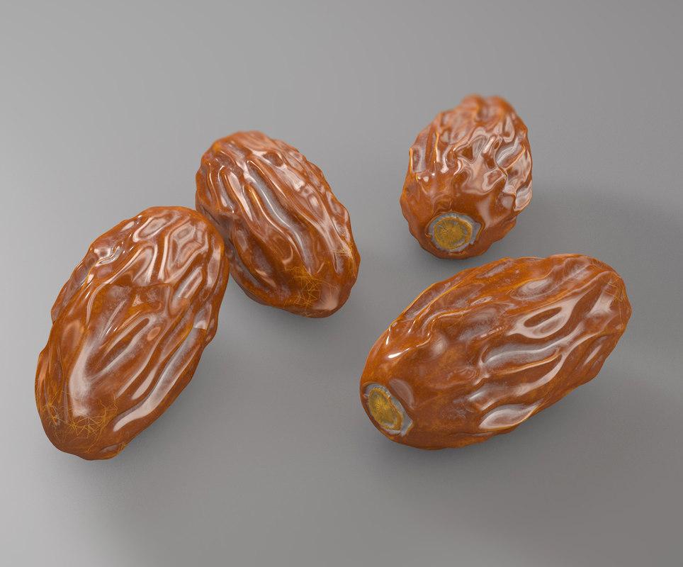 3D date tamr photorealistic model