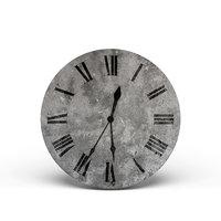 3D concrete wall clock