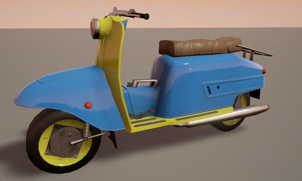 scooter unreal blender 3D model