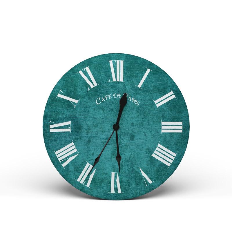 modern wall clock 3D