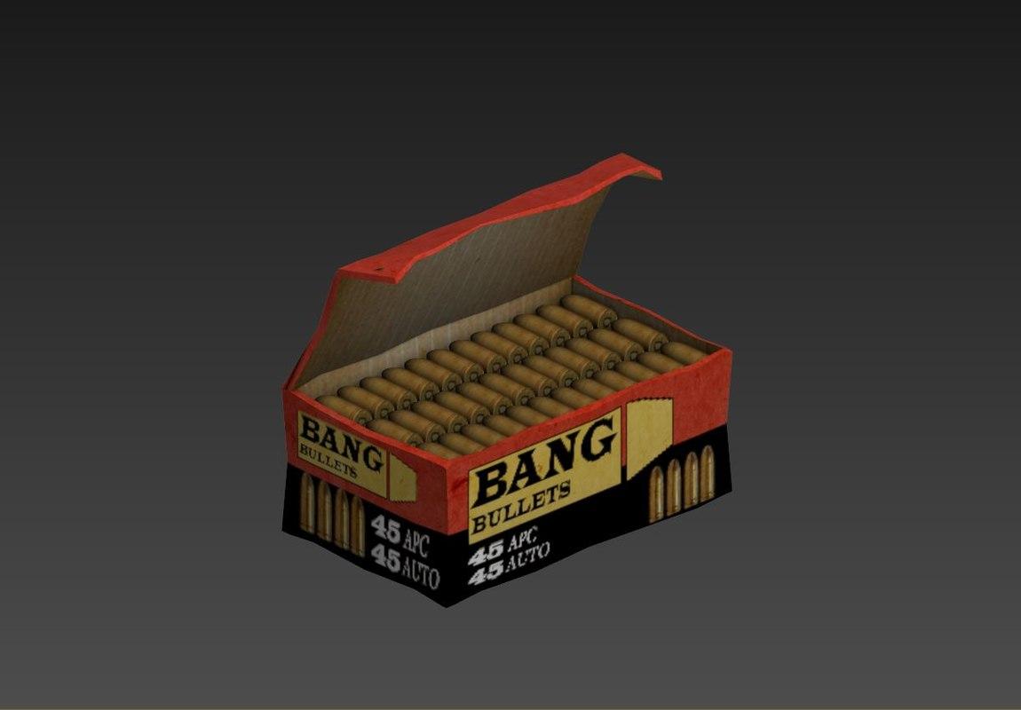 ammo pack bullets 3D model
