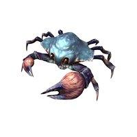 3D rigged crab