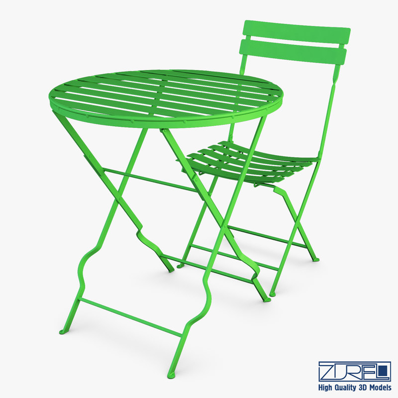 valentino chair table 3D model