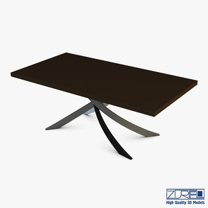 3D bontempi artistico fixed dining table