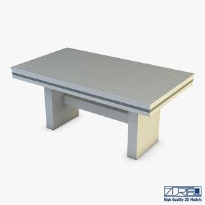 capri dining table 3D model