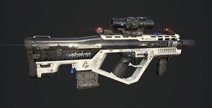 3D sci-fi battle rifle model