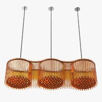 custom glass pendant fixture 3D model