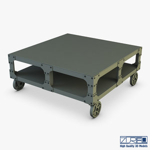 3D esprit loft coffee table